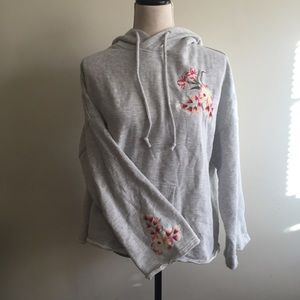 Floral Embroidered Hoodie